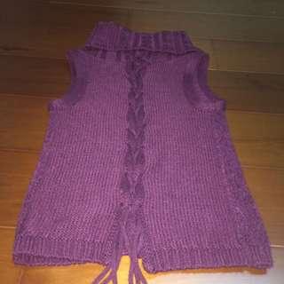 紫色針織背心