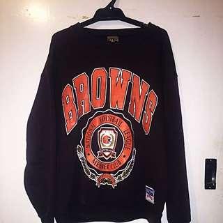 AUTHENTIC Nutmeg Browns NFL Size L Jumper