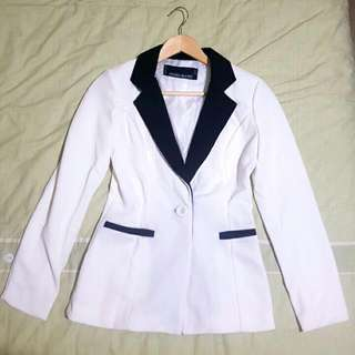 Black And White Blazer Size Small