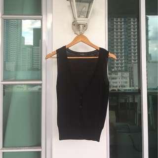 Black vest/coverup