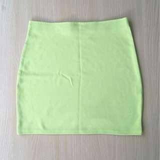 Lime bodyfit skirt