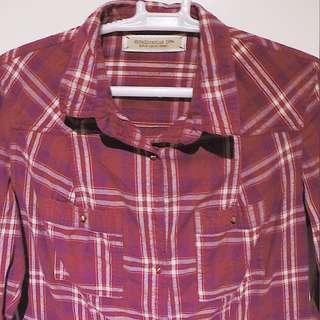 Stradivarius Checkered Long sleeves Polo Medium