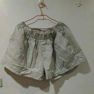 大尺碼短褲 OrangeBear 3L 灰色寬口短褲