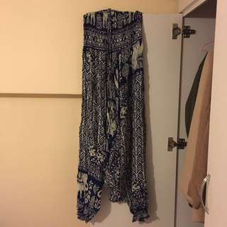 泰國民族風暈染寬褲