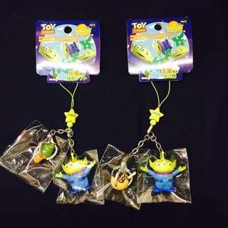 迪士尼 玩具總動員 京都 大阪 限定 三眼怪 抹茶 章魚燒 吊飾 2款一組450元(不分售)