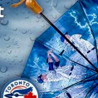 BlueJays Sunday Game with a Bringer of Rain Umbrella Freebie