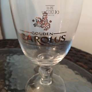 Brand New Rare Vintage Beer Glass Gouden Carolus