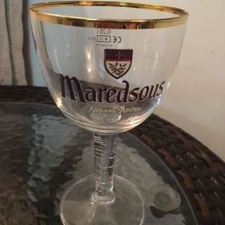 Brand New Rare Vintage Maredsous Beer Glass