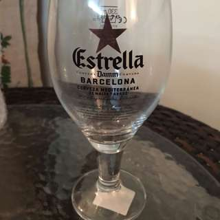 Brand New Rare Vintage Estrella Beer Glass