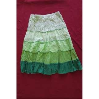 Naf Naf green summer skirt