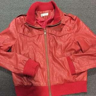 Shinjuku Red Pleather Jacket