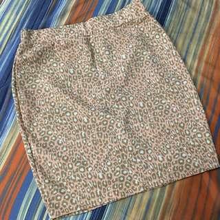Leopard Orange Skirt