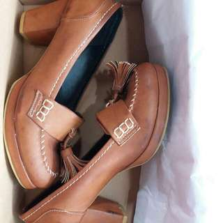 Selitoes Heels Brown Cokelat