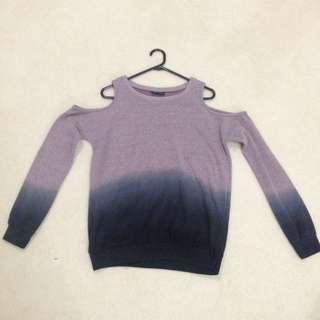 Purple Gradient Sweater