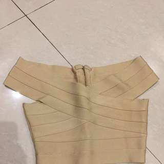 Nude Bandage Crop Top