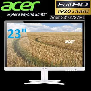 "Acer IPS 23"" G237HL 4ms 1920x1080 LED Monitor White."