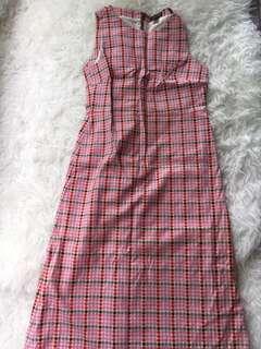 Orla Kiely Pink Geometric Print Cotton Dress