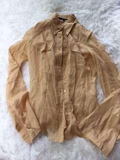 Gucci Nude Silk Blend Blouse 38