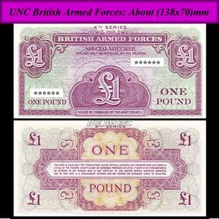 British Armed Forces one pound ( 英國軍票一鎊)