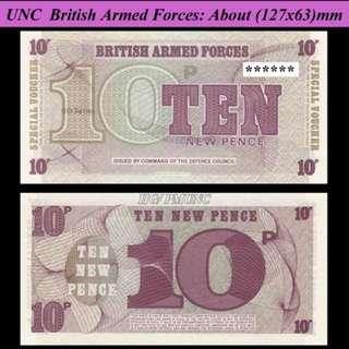 British Armed Force 10 pence (英國軍票10便士)