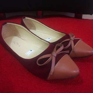 Flatshoes Maroon Simple