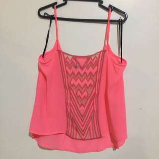 Neon Sheer Camisole