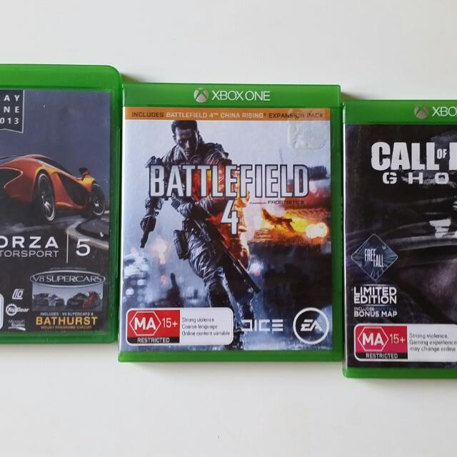 3 Xbox Games Battlefield 4 + Forza 5 Motorsport + Call of duty