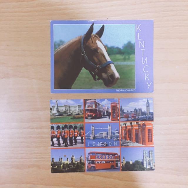 倫敦美國風景明信片