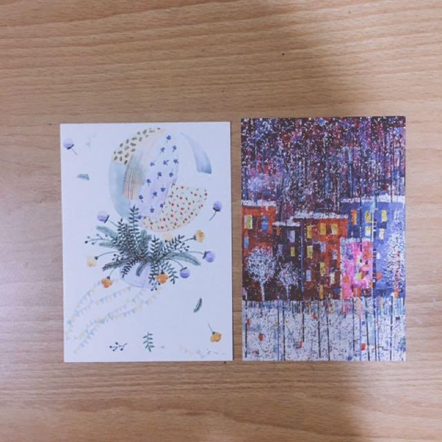 歐美插畫明信片