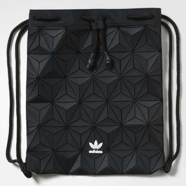 e1a0dc87b7e0 Adidas Issey Miyake Black 3D Bucket Gym Sack Drawstring Bag