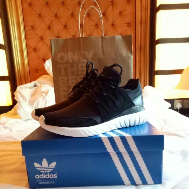Adidas Tubular Radial Pig Skin - Black/White