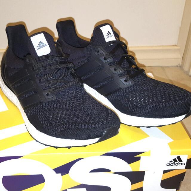 Adidas Ultra Boost 2.0 Core Black Sz 9.5 Mens