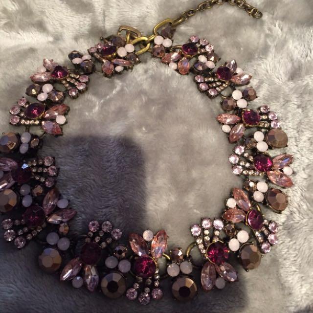 Adjustable Flower Collar Necklace