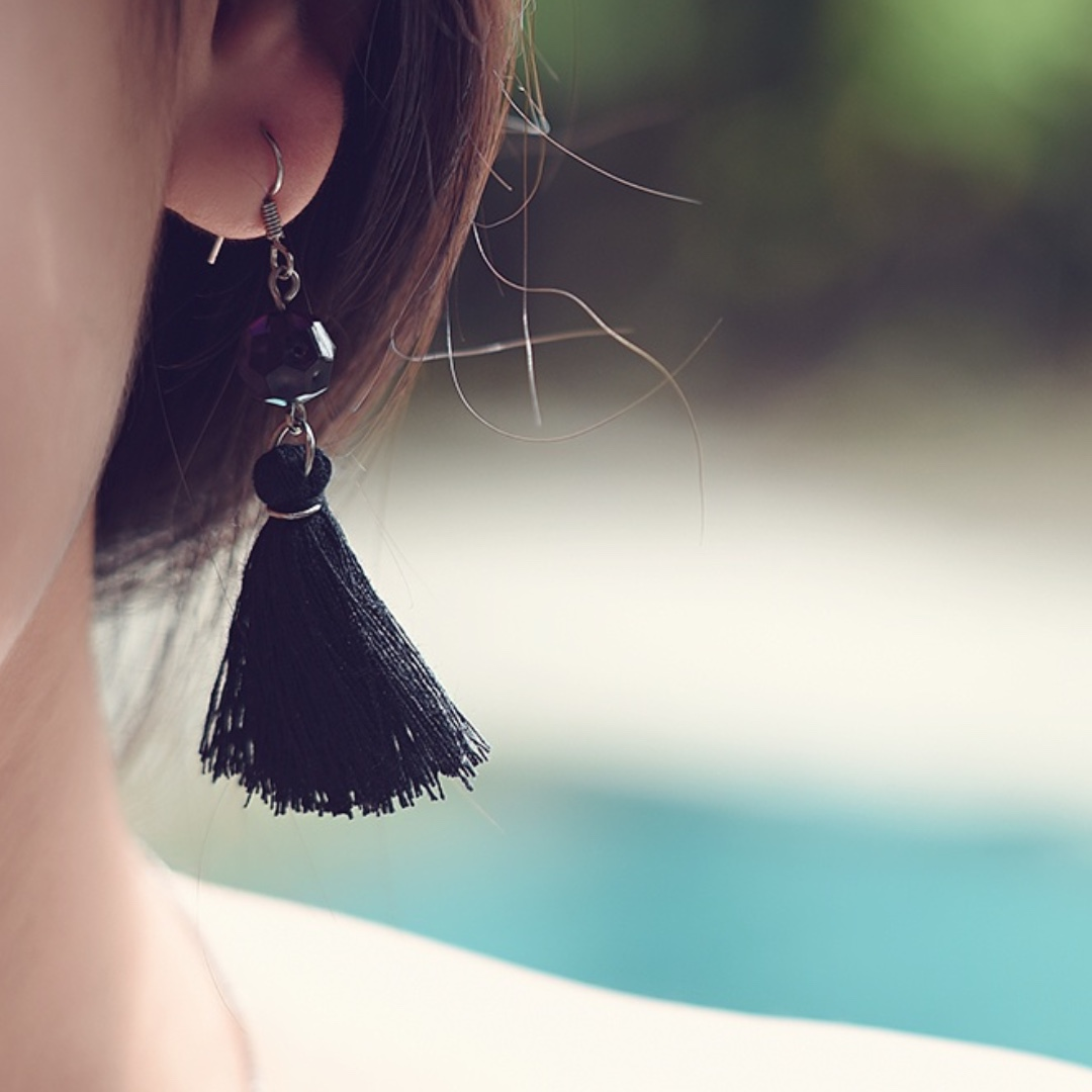 ANTING HANDMADE - CANCER TASSEL / EARRING / GIWANG