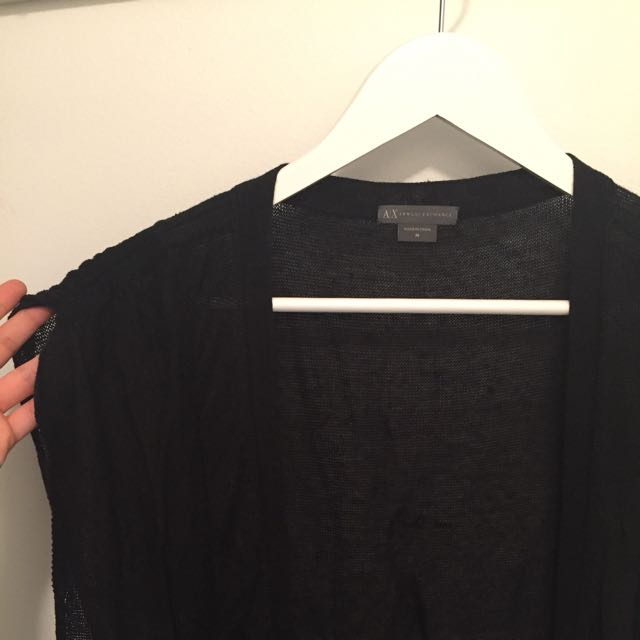 Armani Exchange Black Cardigan
