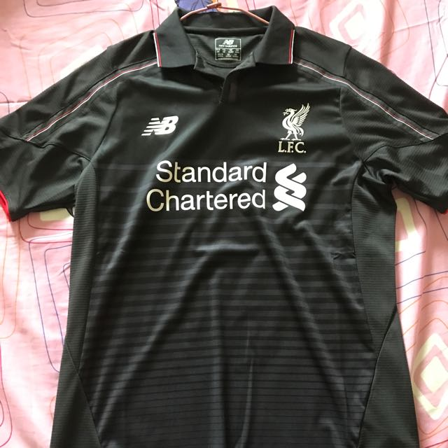 Authentic Liverpool Away 15 16 Jersey New Balance . 48aa2fdce