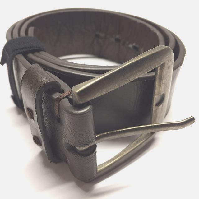 Bershka Men's Dark Brown Belt