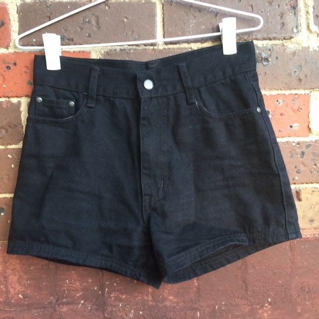Black Denim Shorts M