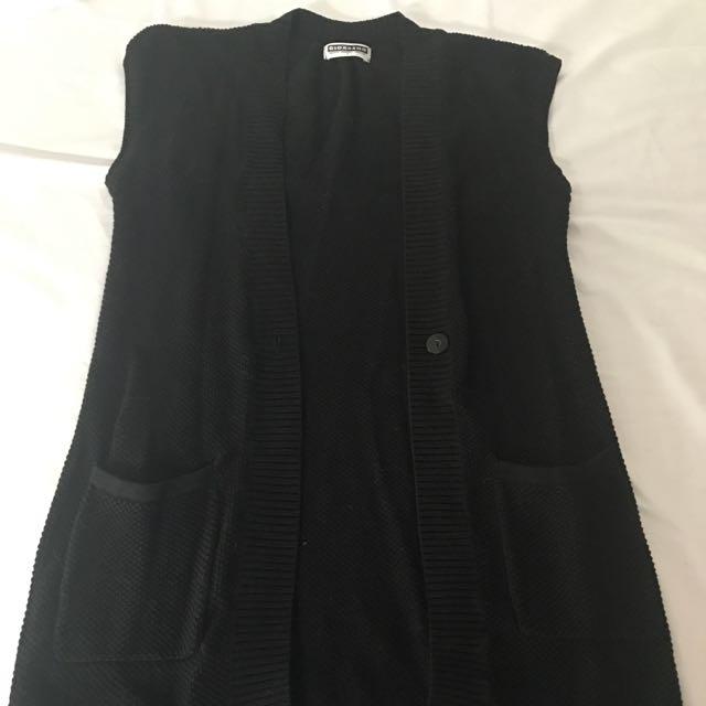 Black Giordano Sleeveless Cardigan Size Small