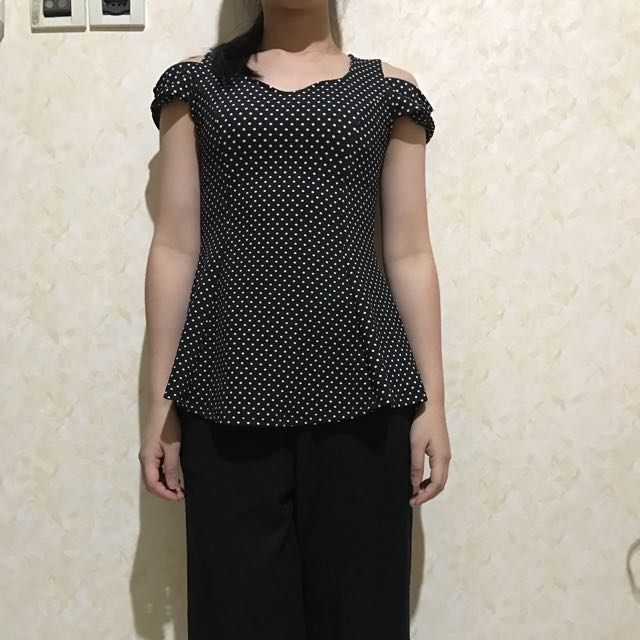 black polkadot sabrina