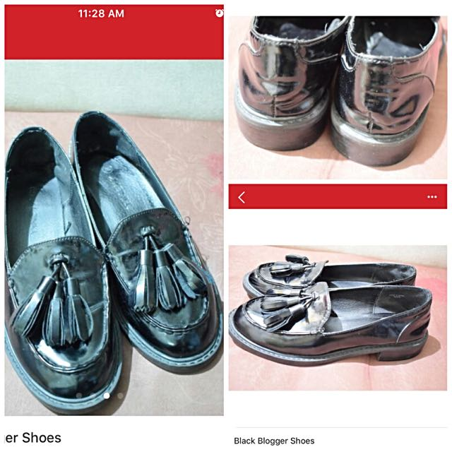 Black Size 9 Loafers