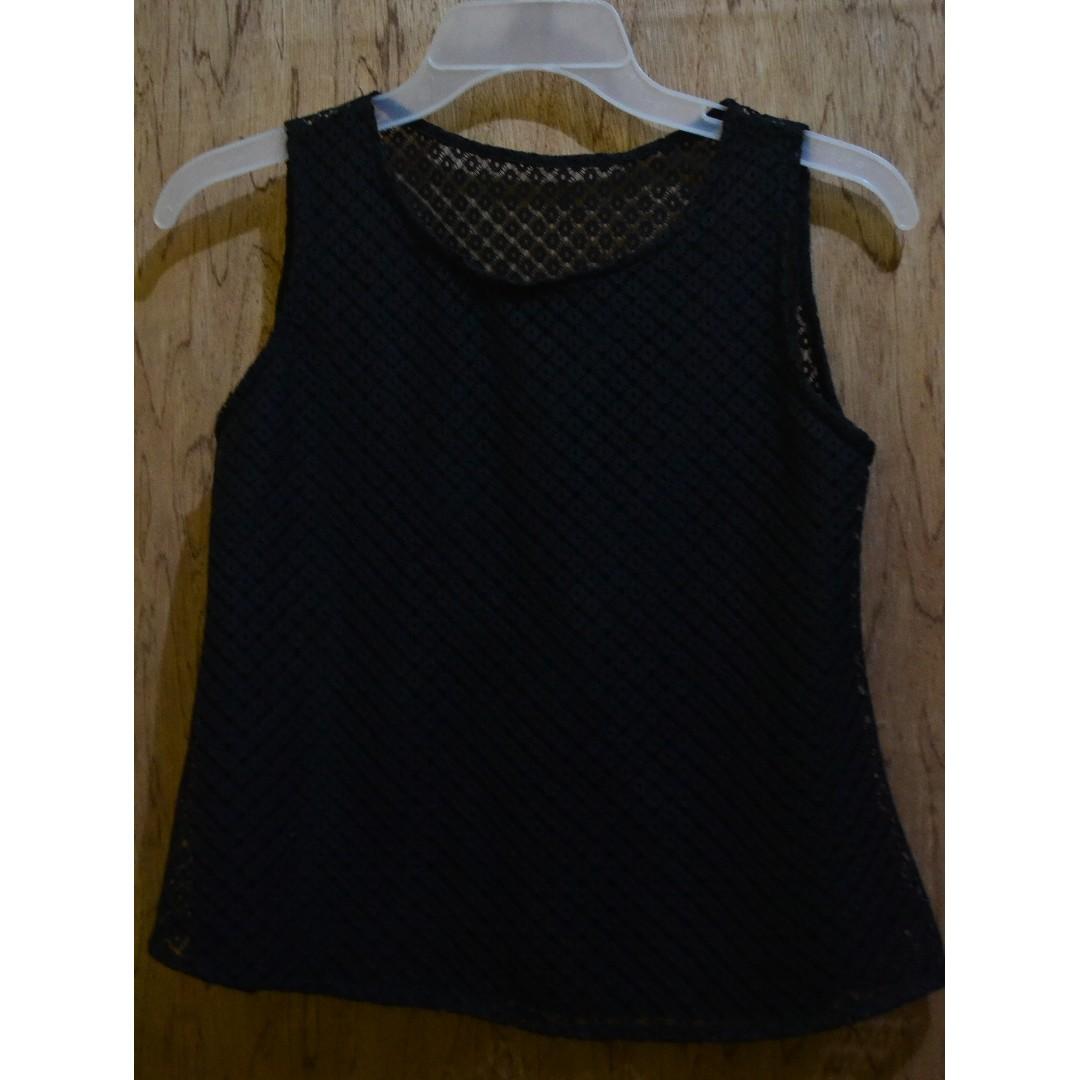 Black sleeveless w/ see-through back