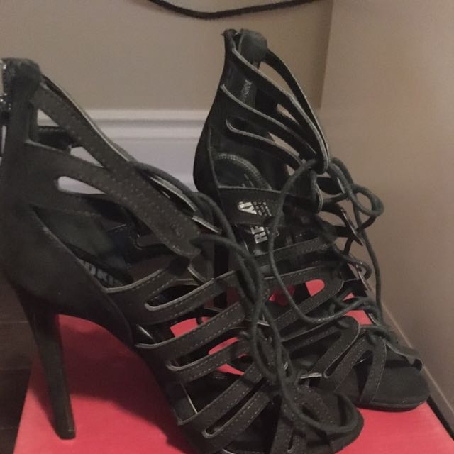 Black Strappy High Heels