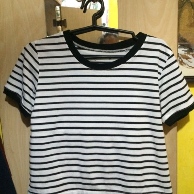 Black Stripes Crop Top