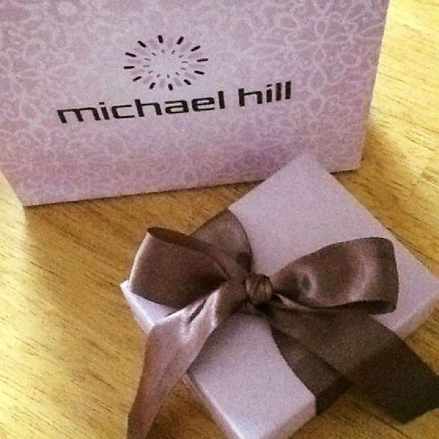 BNIB Michael Hill Sterling Silver Dangle Heart Earrings