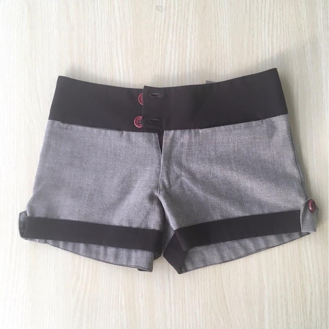 Brown mini shorts