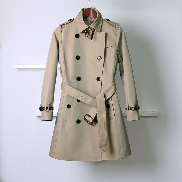 Burberry風 B家同款 英倫 雙排釦 風衣 外套