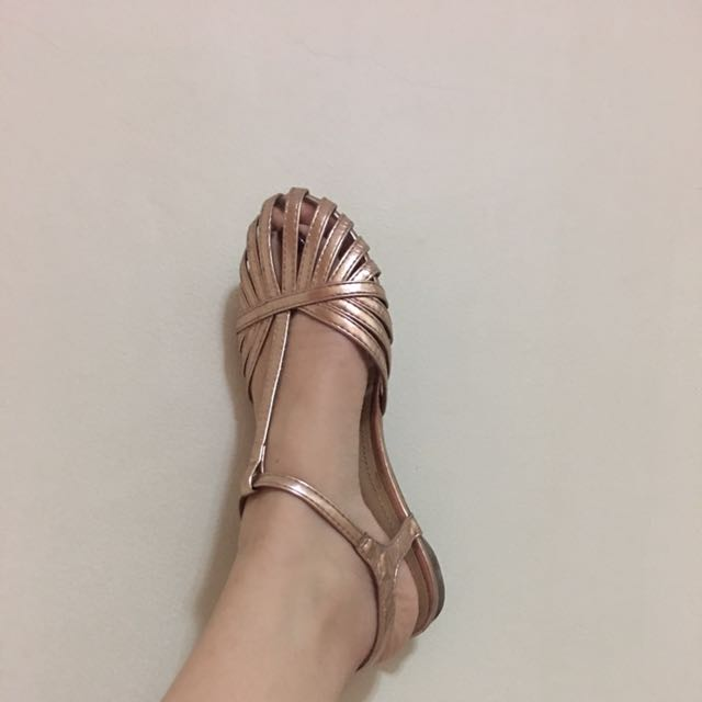 Caged Flats( Rosegold)