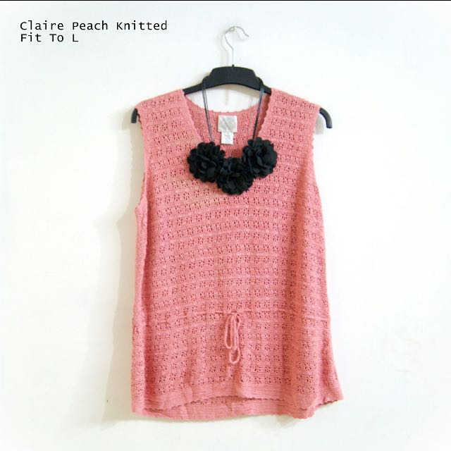 Claire Peach Knitted