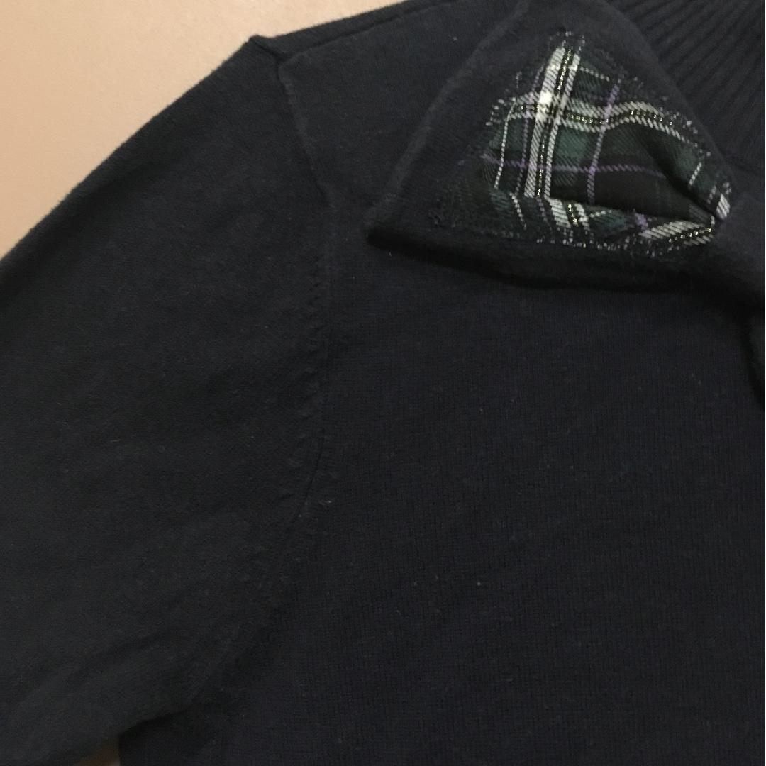 cotton inn 專櫃 寶藍色 針織上衣 有領子 蝴蝶結
